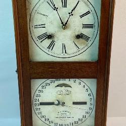 Antique c. 1870 H.B. Horton Patent Ithaca Calendar Clock WORKS