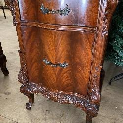 BATESVILLE FLAME MAHOGANY CARVED NIGHTSTAND