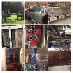 car lift, tools, antiques, & more