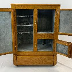Antique Solid Oak Ice Box