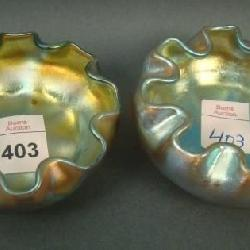 5ca5be8ae15d98 Pair of Tiffany Gold Favrile Salt Dips