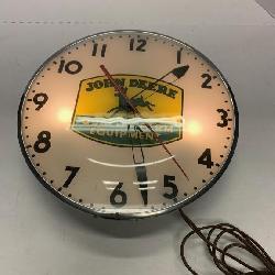 John Deere Lighted Clock From Sohn Dealership In S