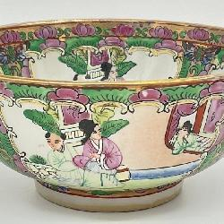 Hand Painted Famille Rose Asian Bowl