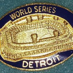3074: 1984 Detroit Tigers World Series Press Pin