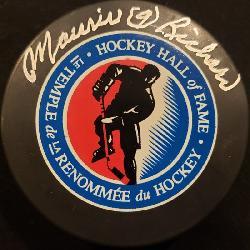 3237: Maurice Richard Autographed Hockey Puck