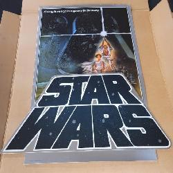 Rare Original 1977 Star Wars Movie Theater Counter Standee 1977