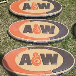 Large Vintage A&W Root Beer Lighted signs