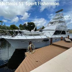 1980 Hatteras 55′ Convertible Sport Fisherman Yacht
