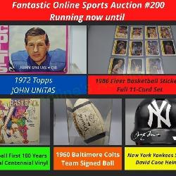 Fantastic Online Sports Auction Running Now