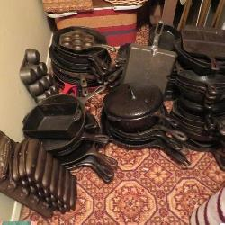150+ Cast iron skillets