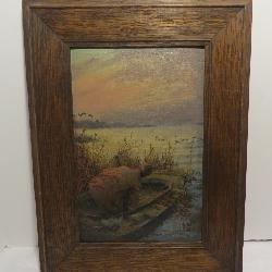 Edward Vincent Brewer Duck Hunting Oil Painting