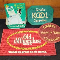 #185 (4) Cigerette & Beer advertisments - (2) Kool, Camel,& Old Milwaukee