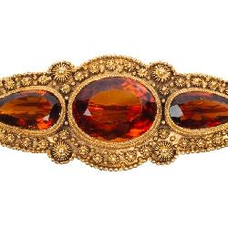 Tiffany & Co 14k Gold & Citrine Brooch Jewelry
