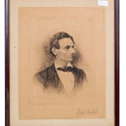Abraham Lincoln Pencil Signed Etching