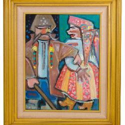 E. Kozak Oil Painting - Ukrainian Art