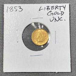 1853 Gold $1 coin