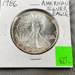1986 Silver Eagle $1.00 coin