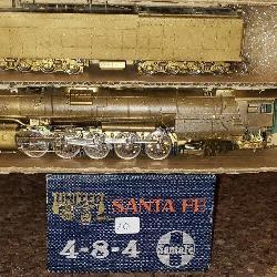United Santa Fe 4-8-4 Brass Train Locomotive