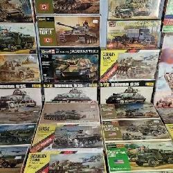 31 ct. Hasegawa, AMT, AHM Military Model Kits