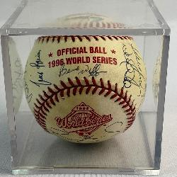 1996 New York Yankees Team Signed Rawlings World Series Baseball w/ 23 Signatures (Derek Jeter, Mariano Rivera, Joe Torre, Wade Boggs, Cecil Fielder, Gooden, Raines, Etc..)