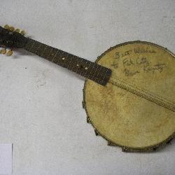 Vintage Signed Banjo, Dave Krysty, 24 inch Length