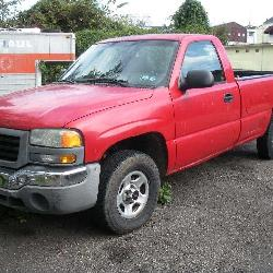 2004 GMC 4x4 8 Ft Bed Pick Up Truck