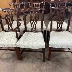 SET OF 6 HICKORY CHAIR MAHOGANY CHIPPENDALE CHAIRS