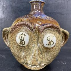 JACK PHILLIPS KNIGHTDALE NC AUCTIONEER FACE JUG