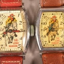 7c014ade0d95 Two Lone Ranger Riding Silver Wrist Watches.