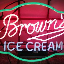 Brown's Dairy Ice Cream Neon Sign