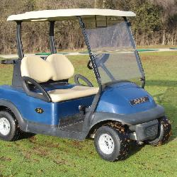 (45) 2011 Club Car navy blue Precedent electric 48 volt golf carts