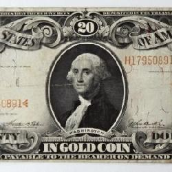 #47b  1906 US $20 Gold Certificate Large Note