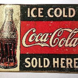 Coca Cola Retro Tin Sign