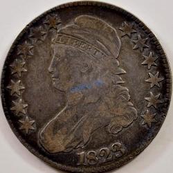 1823 Lettered Edge Half Dollar Normal 3