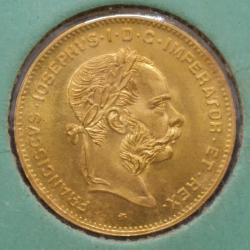 AUSTRIA 1892  GOLD 10 FRANCS GEM