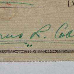 Baseball Hall of Famer Ty Cobb signed Check - 1950
