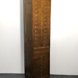 Amberg Patent Oak Post Office Letter File Cabinet.
