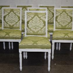 Set of 8 Antique Designer Painted Dining Chairs