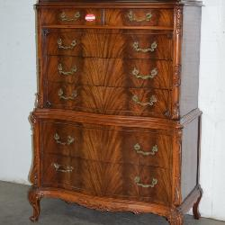 French Flamed Mahogany Chest on Chest (suite)