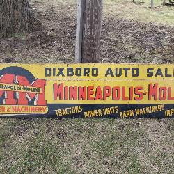 Minneapolic Moline Tractor Dealership Sign - Ann Arbor, MI - Dixboro Auto Sales