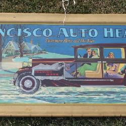 Fantastic Francisco Auto Heater tin Litho NOS advertising sign
