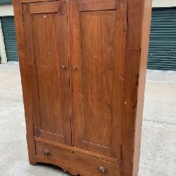 Solid wood antique wardrobe