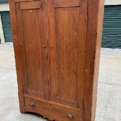 Solid wood antique wardrobe
