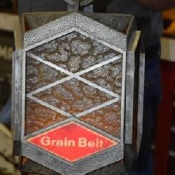 Grain Belt Electric Plastic Wall Hanging Lantern, Works