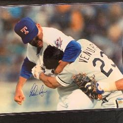 Iconic Nolan Ryan in a Fight Autograph