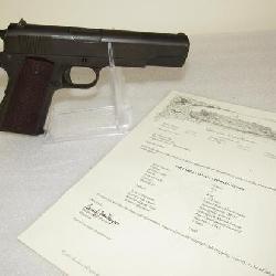 Colt US Army Commanding General's 1911 A1 .45 Semi-Auto Pistol w/ Colt Archive