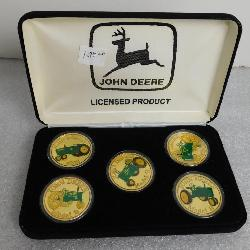 Five-coin John Deere Commemorative tractor set - .999 fine silver