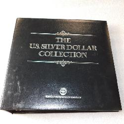 US Silver Dollar Collection Album - with coins