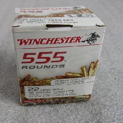 555 rounds Winchester 22 long rifle ammo .36 grain hollow point copper plated