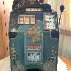 Early Jennings Chief Nickel Slot Machine